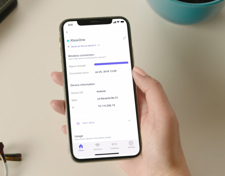 Cisco Meraki GO mobile app